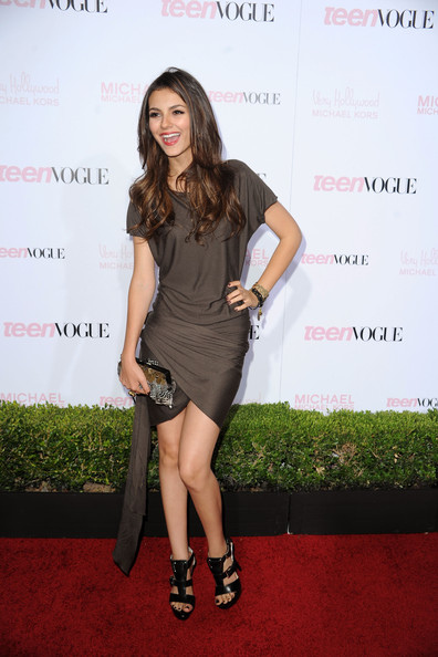 Victoria Justice Actress Victoria Justice arrives at The 8th Annual Teen Vogue Young Hollywood Party at Paramount Studios on October 1, 2010 in Los Angeles, California.