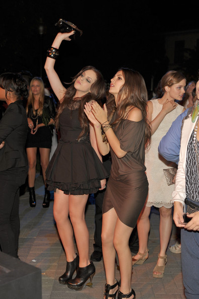 Victoria Justice Actresses Elizabeth Gillies and Victoria Justice inside at The 8th Annual Teen Vogue Young Hollywood Party at Paramount Studios on October 1, 2010 in Los Angeles, California.