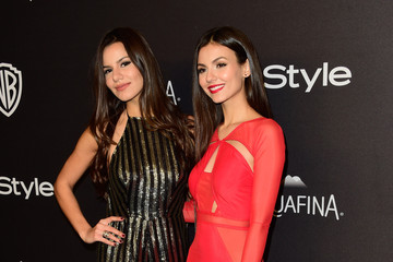 Victoria Justice Madison Justice 2016 InStyle and Warner Bros. 73rd Annual Golden Globe Awards Post-Party - Arrivals