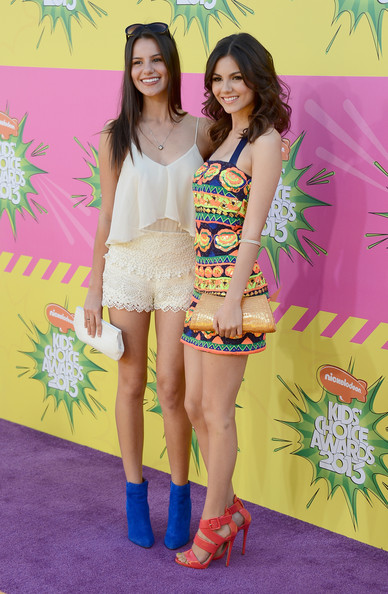 Nickelodeon's 26th Annual Kids' Choice Awards - Arrivals [clothing,fashion,thigh,yellow,leg,youth,shorts,footwear,fun,human leg,arrivals,victoria justice,kids choice awards,california,los angeles,usc galen center,nickelodeon,madison justice,l]