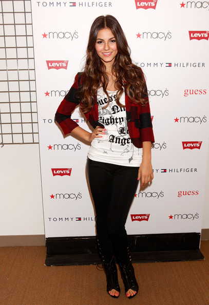Victoria Justice Actress Victoria Justice attends Nickelodeon's Big Time Rush & Victoria Justice celebrating Back-To-School at Macy's Herald Square on August 15, 2010 in New York City.