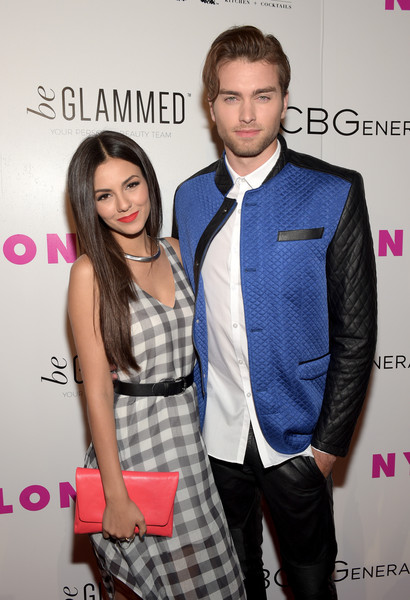 NYLON Young Hollywood Party, Presented By BCBGeneration [fashion,suit,event,tie,premiere,outerwear,formal wear,fashion design,fashion accessory,style,victoria justice,pierson fode,nylon,west hollywood,california,young hollywood party,bcbgeneration,l,hyde sunset: kitchen cocktails]