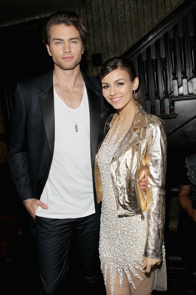 Vanity Fair Campaign Hollywood - FIAT Young Hollywood Celebration [vanity fair,fashion,outerwear,suit,event,fashion design,textile,leather jacket,formal wear,haute couture,jacket,victoria justice,pierson fode,james corden,krista smith,no vacancy,los angeles,hollywood - fiat,young hollywood celebration,celebration]