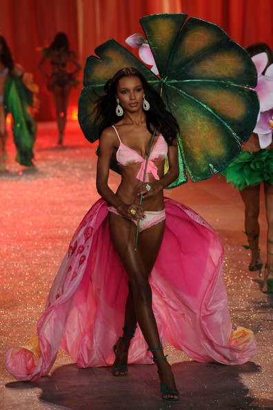Model Jasmine Tookes walks the runway during the Victoria's Secret 2012 Fashion Show on November 7, 2012 in New York City.