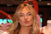Victoria's Secret Angels Romee Strijd shares the new Dream Angels and Very Sexy collections at Victoria's Secret on February 6, 2018 in Santa Monica, California.