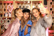 (L-R) Romee Strijd, Annabelle Fleur and Josephine Skriver attend Victoria's Secret Ultimate Girls Night In with Angels Josephine Skriver and Romee Strijd at Peninsula Hotel on February 6, 2018 in Beverly Hills, California.