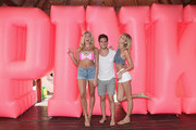 Rachel Hilbert, Diego Boneta, Devon Windsor attend Victoria's Secret PINK Nation Spring Break Beach Party in Cancun, Mexico on March 15, 2016 in Cancun, Mexico.