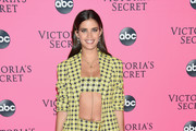 Sara Sampaio attends the Victoria's Secret Viewing Party ar Spring Studios on December 2, 2018 in New York City.
