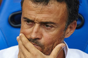 FC Barcelona manager Luis Enrique looks on prior to the La Liga match between Villarreal CF and FC Barcelona at El Madrigal stadium on August 31, 2014 in Villarreal, Spain.