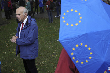 Vince Cable Anti-Brexit Protests Take Place in Manchester
