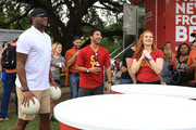 Vince Young, Heisman Trophy winner and Texas Longhorn legend, stopped by the Wendy's College Football Tailgate prior to Texas' game against USC on September 15, 2018 in Austin, Texas. Young surprised and delighted tailgaters by hand delivering Wendy's fresh never frozen cheeseburgers. His partnership with Wendy's serves as an effort to promote Free Delivery that is bringing the Official Hamburger of the NCAA to college football fans every weekend for free via DoorDash.