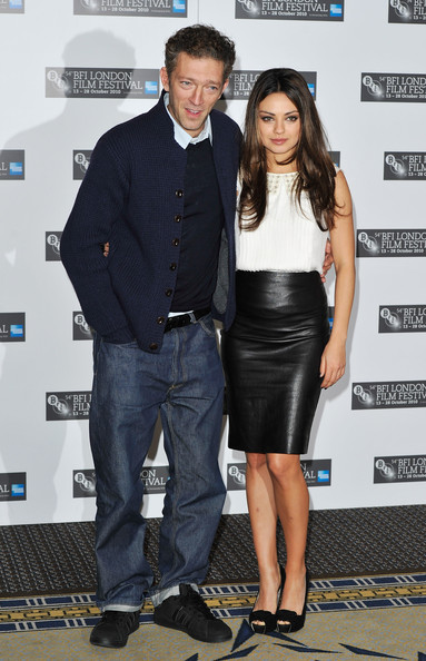 Actor Vincent Cassel and actress Mila Kunis attend the 'Black Swan'