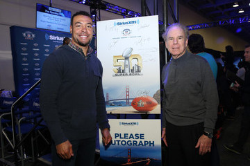 Vincent Jackson SiriusXM at Super Bowl 50 Radio Row - Day 2