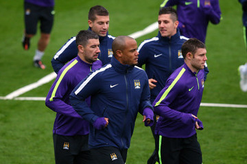 Vincent Kompany Manchester City Training