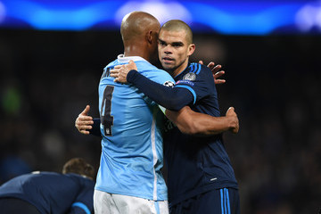 Vincent Kompany Manchester City FC v Real Madrid - UEFA Champions League Semi Final: First Leg
