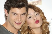 Diego Dominguez and Martina Stoessel  attend the 'Violetta' photocall at the Emperador Hotel on June 24, 2013 in Madrid, Spain.