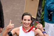 Laura Wright finishes the Virgin London Marathon 2019 on April 28, 2019 in London, United Kingdom.