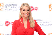 Tess Daly attends the Virgin Media British Academy Television Awards 2019 at The Royal Festival Hall on May 12, 2019 in London, England.