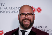 Tom Davis winner of Comedy Entertainment Programme poses in the press room at the Virgin TV British Academy Television Awards at The Royal Festival Hall on May 13, 2018 in London, England.