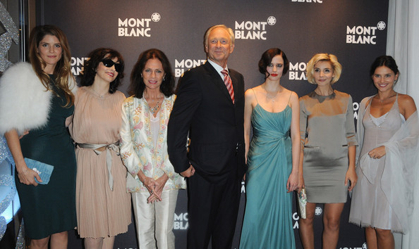 Virginie Ledoyen and Alice Taglioni - Montblanc Paris Flagship Boutique ...