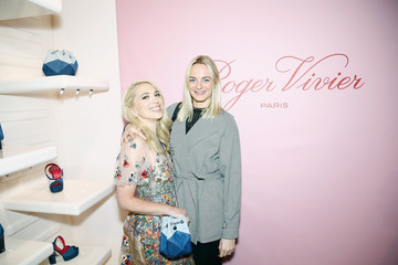 Virginie Courtin-Clarins Roger Vivier Prismick Denim Party
