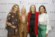 Cleo Wade, Visionary Women's Lili Bosse, Gloria Steinem, and Visionary Women's Angella Nazarian attend Visionary Women Celebrate Gloria Steinem in conversation with Cleo Wade at the Beverly Wilshire, A Four Seasons Hotel on November 18, 2019 in Beverly Hills, California.
