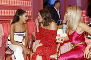 (L-R) Olivia Culpo, Louise Roe, Kurt Seidensticker, and Shea Marie attend the Vital Proteins Launches Feed Your Beauty Popup Store in Soho NYC on September 5, 2018 in New York City.