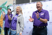 Viva Senior Brand Manager Sean Nobui, Actress and home/DIY Expert Monica Potter and Kimberly-Clark Chairman and CEO Tom Falk volunteer with Viva Towels and the Boys and Girls Club of Greater Ventura to unleash clean on donated furniture, electronics and appliances, give them to families in need from the Boys & Girls Club of Greater Ventura on April 6, 2016 in Ventura, California.  (Photo by Michael Kovac/Getty Images for Viva (Kimberly-Clark))