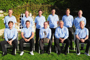 (Fack left to right) Mark Foster, Jamie Donaldson, Scott Jamieson, Ross Fisher, Ian Poulter and David Horsey. (Front row left to right)  Robert Rock, Lee Westwood, captain Paul McGinley, Darren Clarke and Simon Dyson The Great Britain and Ireland team pose for a team picture prior to the start of the first days fourball matches at the Vivendi Seve Trophy at Saint - Nom - La Breteche Golf Course on September 15, 2011 in Paris, France.