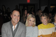 Photographer Nigel Barker, Stassi Schroeder, and Katie Sands attend the Vivienne Tam front row during New York Fashion Week at Spring Studios on February 15, 2018 in New York City.