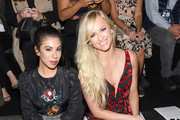 Chrissy Fit and Danielle Moinet attend Vivienne Tam fashion show during New York Fashion Week: The Shows  at Gallery 1, Skylight Clarkson Sq on September 10, 2017 in New York City.