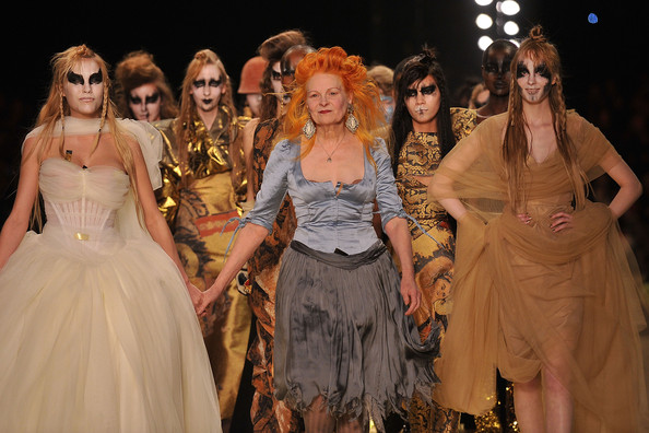 Vivienne Westwood Vivienne Westwood and models walk the runway during the Vivienne Westwood Ready to Wear Autumn/Winter 2011/2012 show during Paris Fashion Week at Pavillon Concorde on March 4, 2011 in Paris, France.