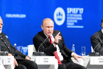 Vladimir Putin Russian President Vladimir Putin Attends the Saint Petersburg International Economic Forum