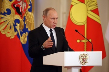 Vladimir Putin Vladimir Putin Attends a Reception For Servicemen of the Syrian Campaign
