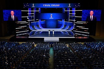 Vladimir Putin Final Draw for the 2018 FIFA World Cup Russia