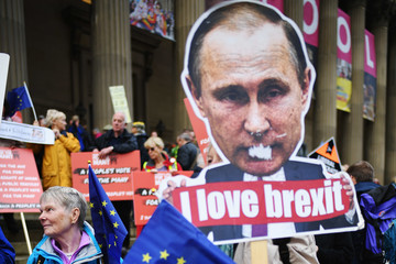 Vladimir Putin March For The Many Takes Place In Liverpool