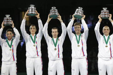 Vladimir Safarik Serbia v Czech Republic - Davis Cup World Group Final: Day Three