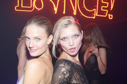 Constance Jablonski and Hana Jirickova attend Vogue 95th Anniversary Party on October 3, 2015 in Paris, France.