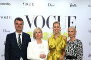 (L-) Andre Pollmann, Jessica Peppel-Schulz, Karolina Kurkova and Christiane Arp at the Vogue party on July 05, 2019 in Berlin, Germany.