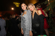 (L-R) Stefanie Giesinger and Xenia Adonts at the Vogue party on July 05, 2019 in Berlin, Germany.