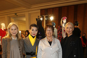 Christiane Arp (R) and Brigitte Zyprie (2ndL) and guests attend the Vogue Salon during 'Der Berliner Salon' AW 18/19 at Kronprinzenpalais on January 16, 2018 in Berlin, Germany.