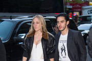 Actress Chloe Sevigny (L) and Ricky Saiz attend the Vogue.com Met Gala Cocktail Party at Search & Destroy on April 30, 2016 in New York City.