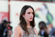 Stacy Martin walks the red carpet ahead of the 'Vox Lux' screening during the 75th Venice Film Festival at Sala Grande on September 4, 2018 in Venice, Italy.