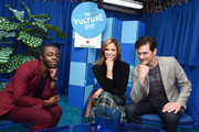 Demi Adejuyigbe, Andrea Savage  and Tom Everett Scott attend the Vulture Festival Presented By AT&T at Hollywood Roosevelt Hotel on November 18, 2018 in Hollywood, California.