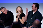 "Holt McCallany, Anna Torv, and Cameron Britton of Mindhunter speak onstage during ""Get Your Mind Blown With the Cast of Mindhunter"" on Day Two of the Vulture Festival Presented By AT&T at Milk Studios on May 20, 2018 in New York City."