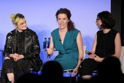 (L-R) Gayle Rankin, Liz Flahive and Carly Mensch speak onstage during Vulture Festival presented by AT&T: The Gorgeous Ladies of Netflix's Glow at Milk Studios on May 19, 2018 in New York City.