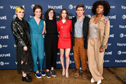 (L-R) Gayle Rankin, Liz Flahive, Carly Mensch, Alison Brie, Chris Lowell and Sydelle Noel pose during Vulture Festival presented by AT&T: The Gorgeous Ladies of Netflix's Glow at Milk Studios on May 19, 2018 in New York City.