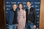 (L-R) New York Magazine Editor in Chief Adam Moss, New York Media CEO Pam Wasserstein, and  New York Media Chief Revenue Officer Avi Zimak attend the Vulture Festival Presented By AT&T Opening Night Party at The Top of The Standard on May 18, 2018 in New York City.