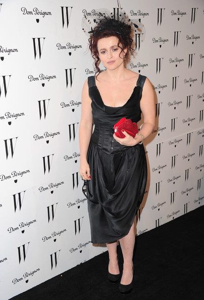 Actress Helena Bonham Carter arrives to the W Magazine Golden Globe Awards party on January 14, 2011 in West Hollywood, California.