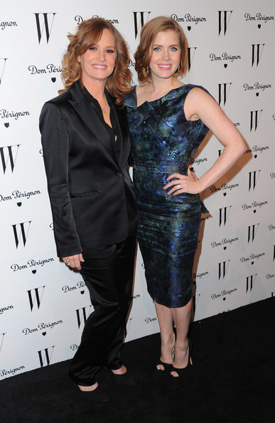 Actresses Melissa Leo and Amy Adams arrive to the W Magazine Golden Globe Awards party on January 14, 2011 in West Hollywood, California.